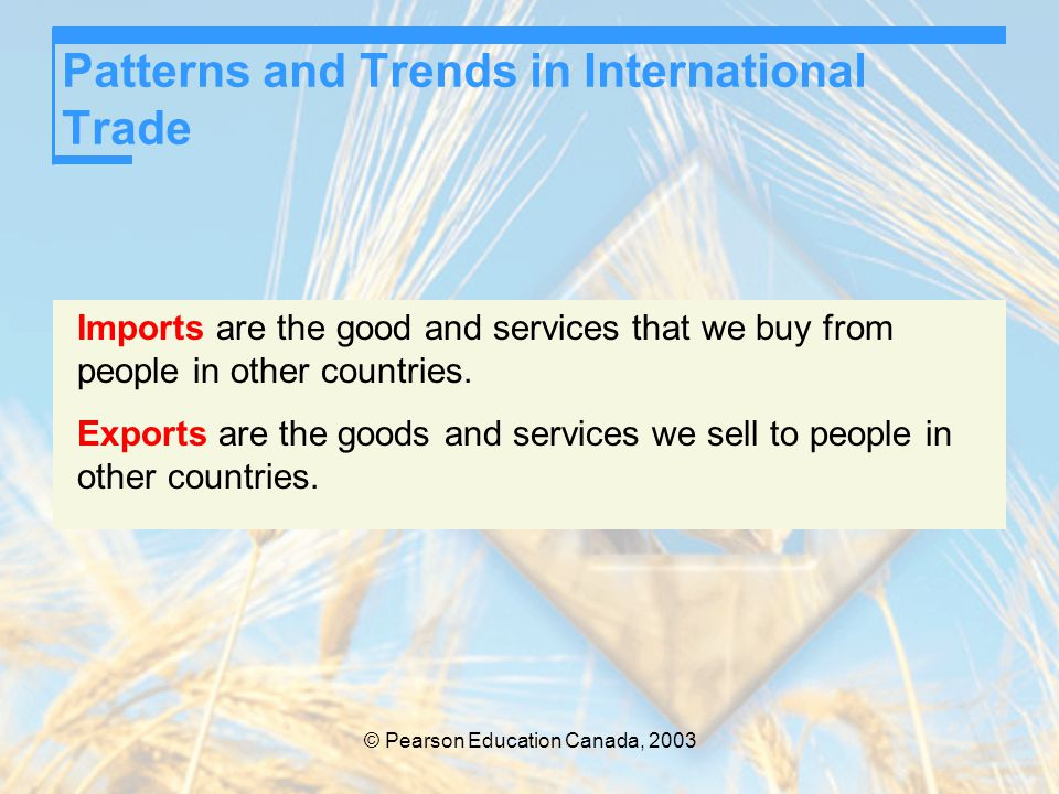 © Pearson Education Canada, 2003 International Trade Restrictions Nontariff Barriers There are two main types of non-tariff barriers to trade.