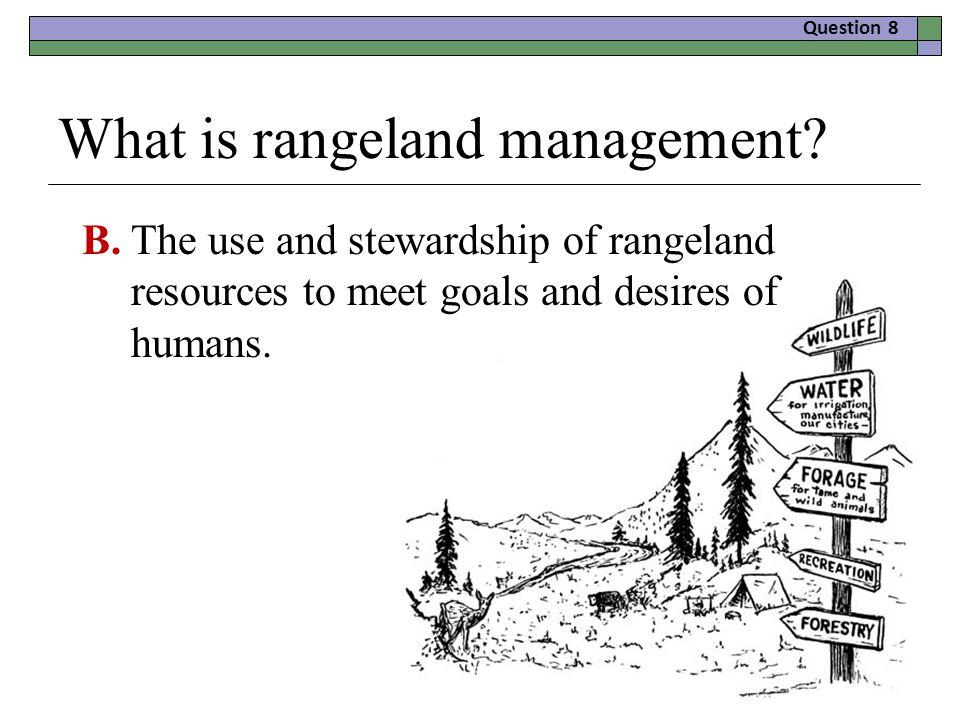 What is rangeland management.