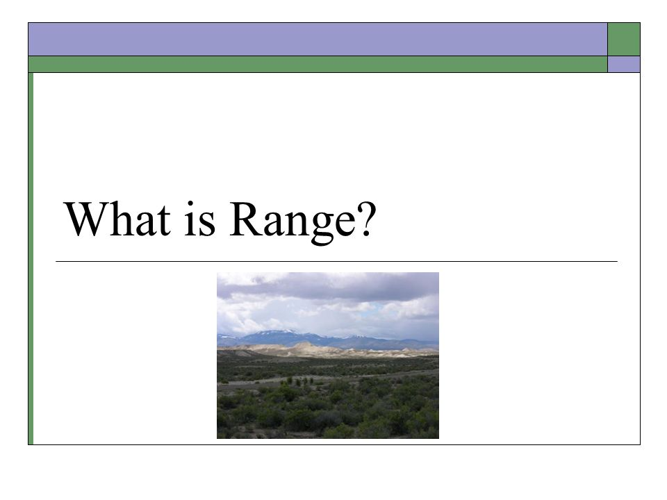 What is Range