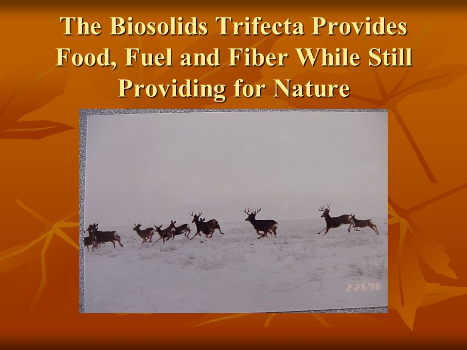 The Biosolids Trifecta Provides Food, Fuel and Fiber While Still Providing for Nature