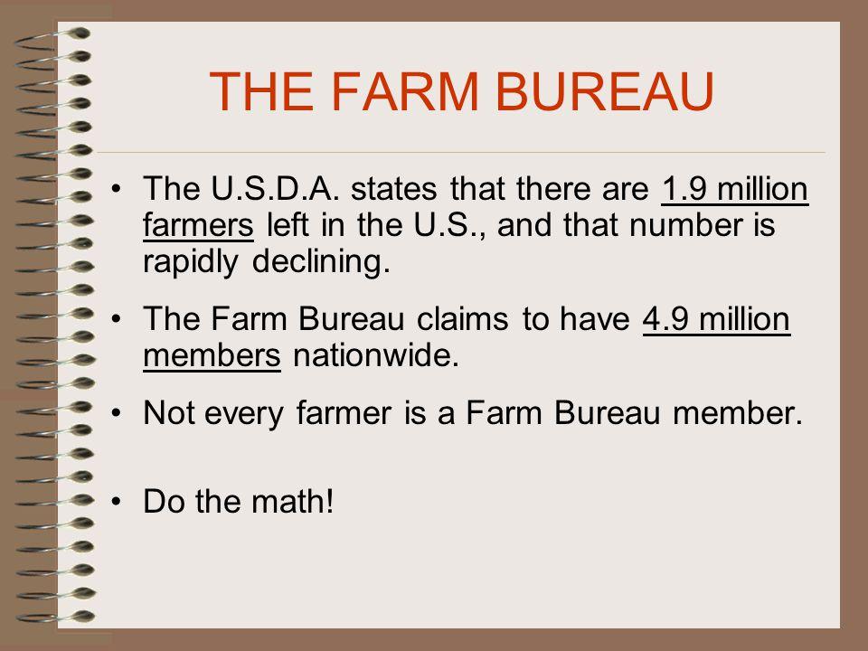 THE FARM BUREAU The U.S.D.A.