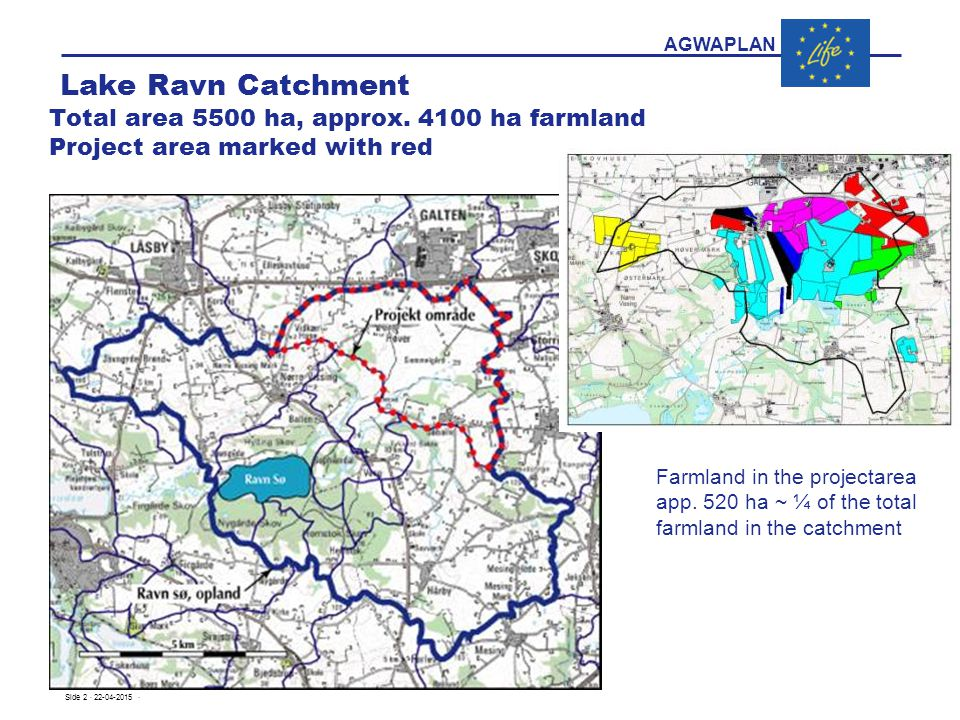 AGWAPLAN Lake Ravn Catchment Total area 5500 ha, approx.