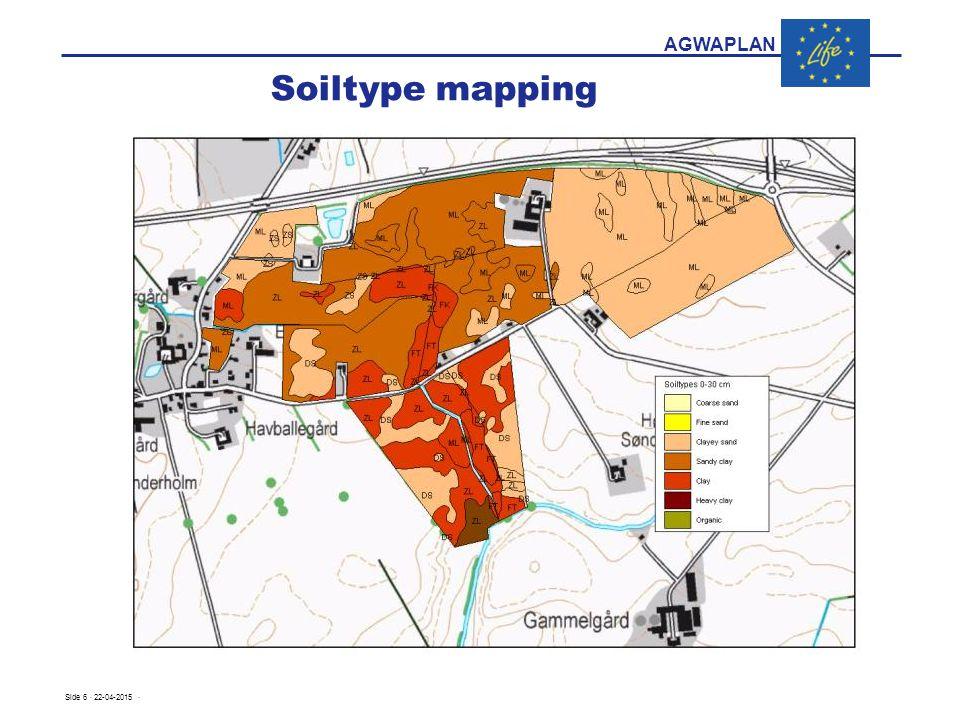AGWAPLAN Soiltype mapping Eksempel på kort Side 6 · 22-04-2015 ·