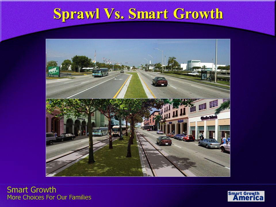 Sprawl Vs. Smart Growth