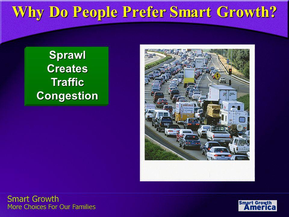Sprawl Creates Traffic Congestion Why Do People Prefer Smart Growth