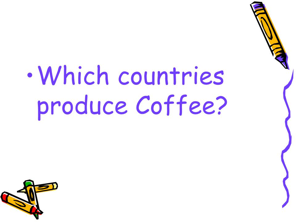 Which countries produce Coffee?