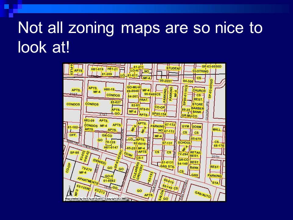 Not all zoning maps are so nice to look at!