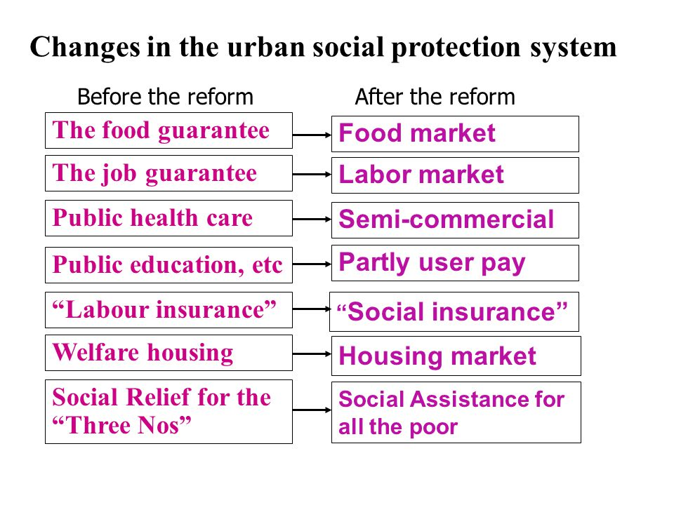 II.Institutional Transition in Social Protection 1. The Social Protection systems before the reform