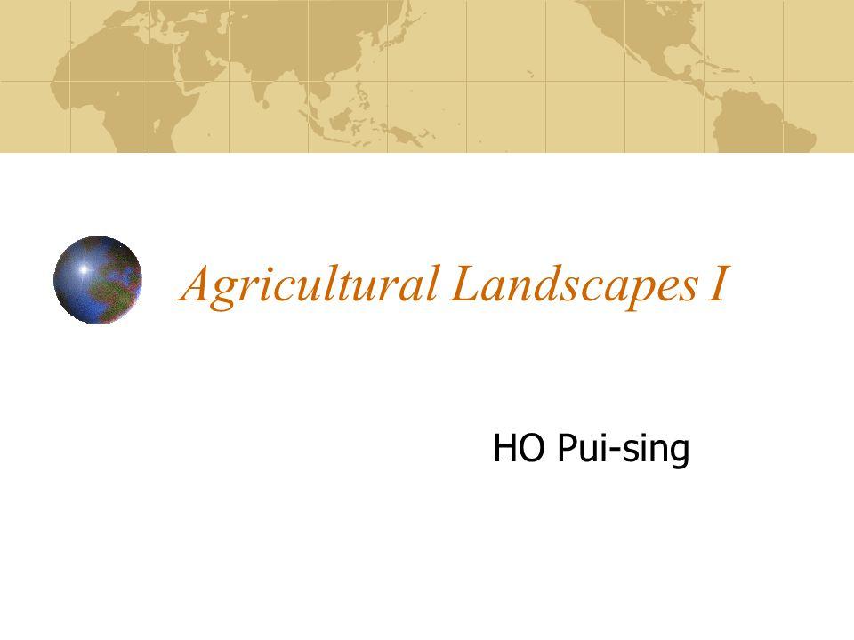 Agricultural Landscapes I HO Pui-sing