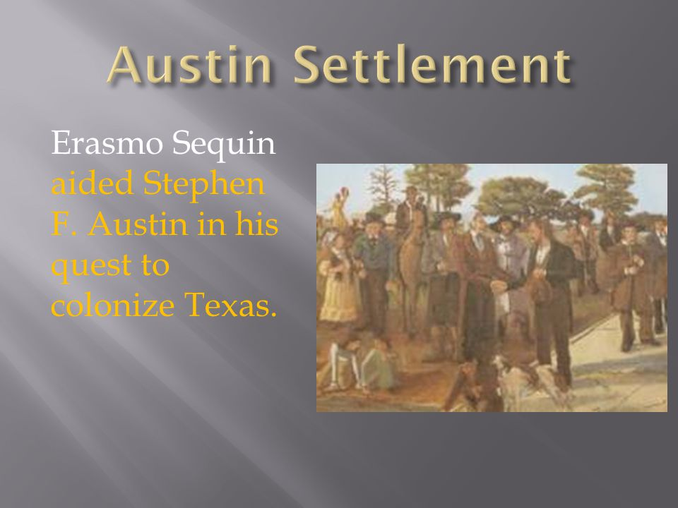  The majority of settlers were from the southern United States.