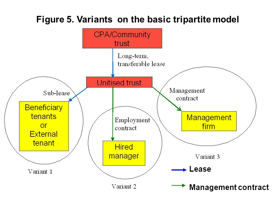 Lease Management contract Figure 5. Variants on the basic tripartite model