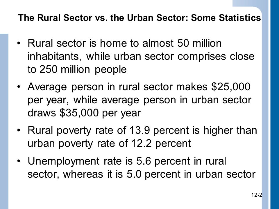 12-2 The Rural Sector vs.
