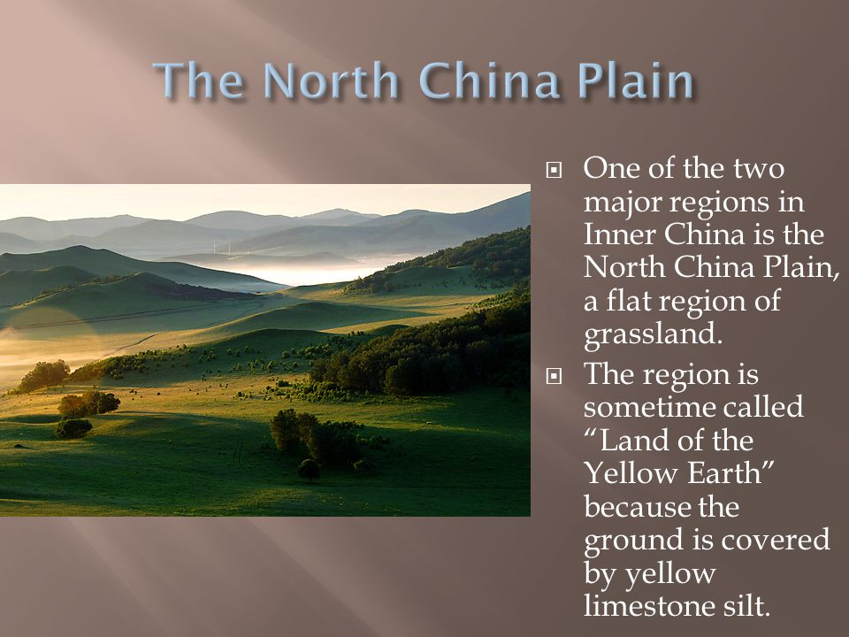  In the South, a narrow coastal plain links the northwestern plain to the rest of China.  This plain was used in Ancient Times by several groups of