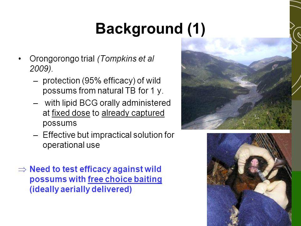 Background (1) Orongorongo trial (Tompkins et al 2009).