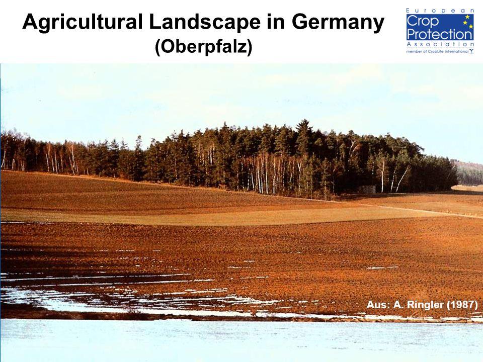 2 Agricultural Landscape in Germany (Oberpfalz) Aus: A. Ringler (1987)