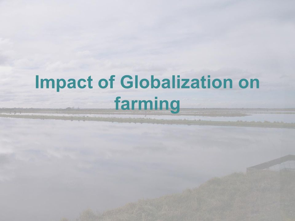 Impact of Globalization on farming