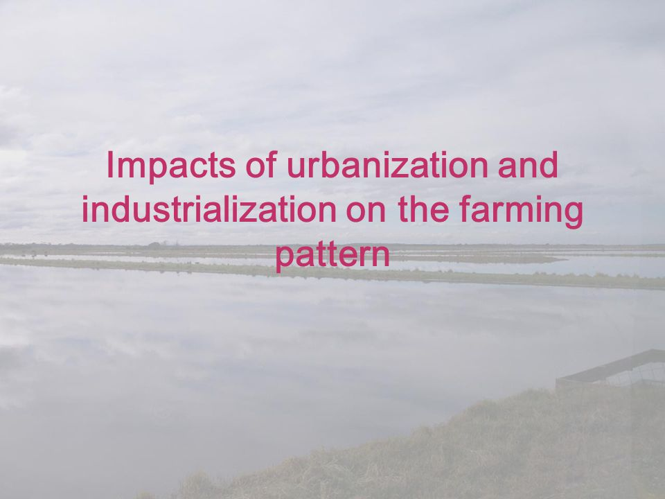 Impacts of urbanization and industrialization on the farming pattern