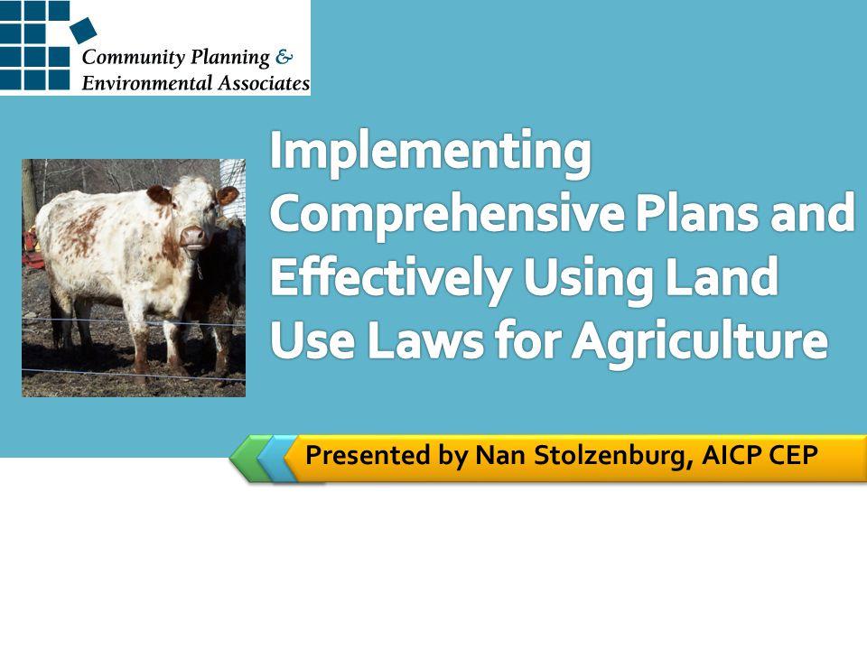 Presented by Nan Stolzenburg, AICP CEP
