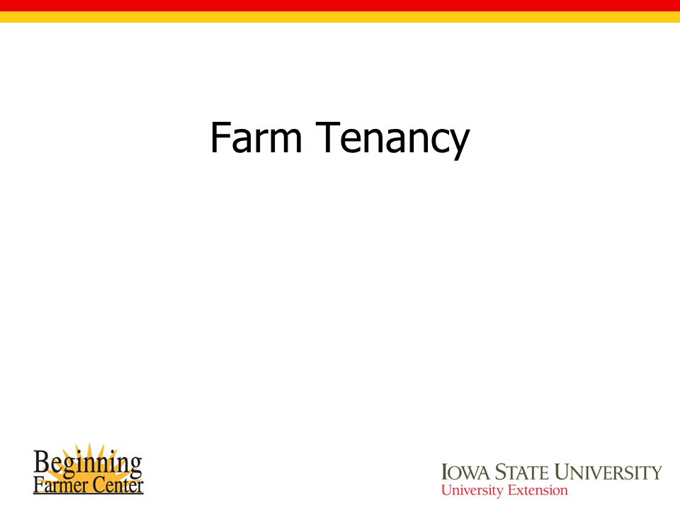 Farm Tenancy