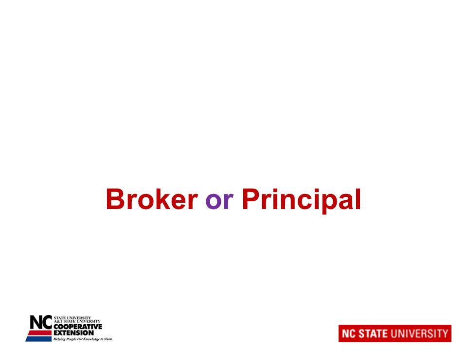 Broker or Principal
