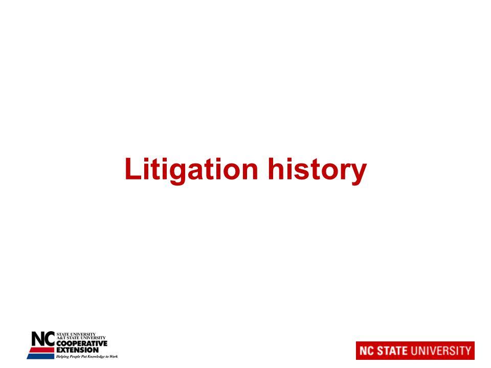 Litigation history