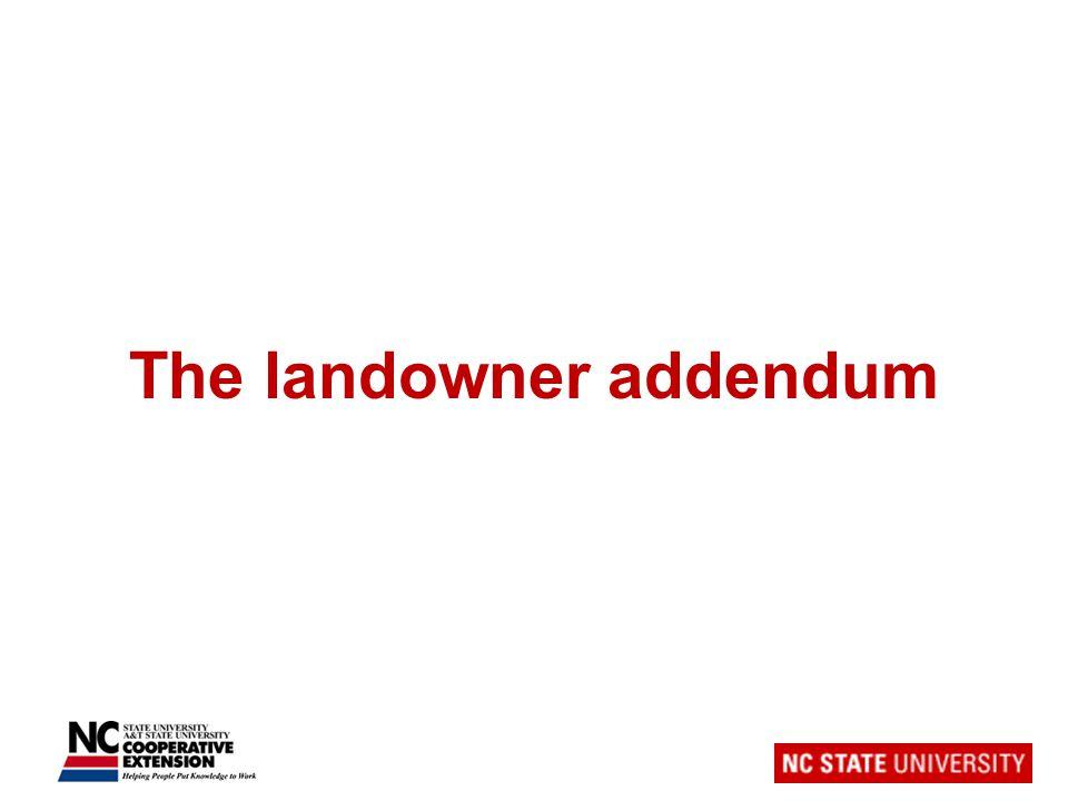 The landowner addendum
