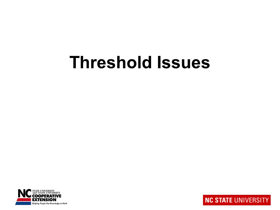 Threshold Issues
