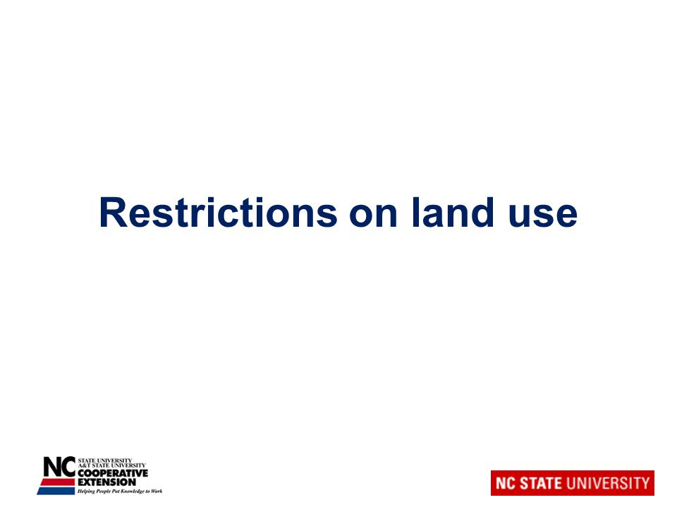 Restrictions on land use