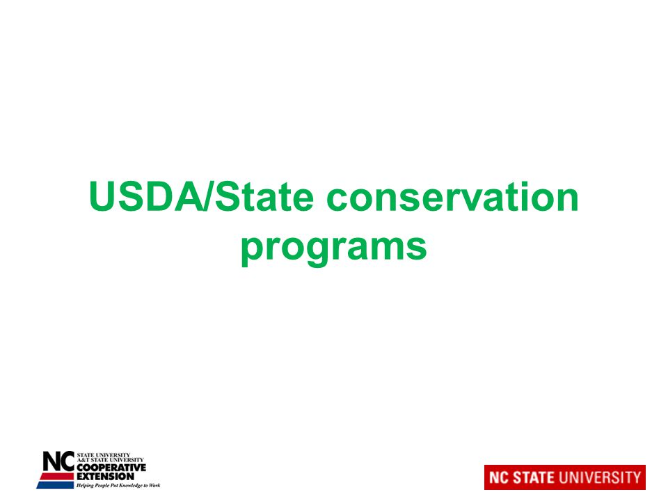 USDA/State conservation programs