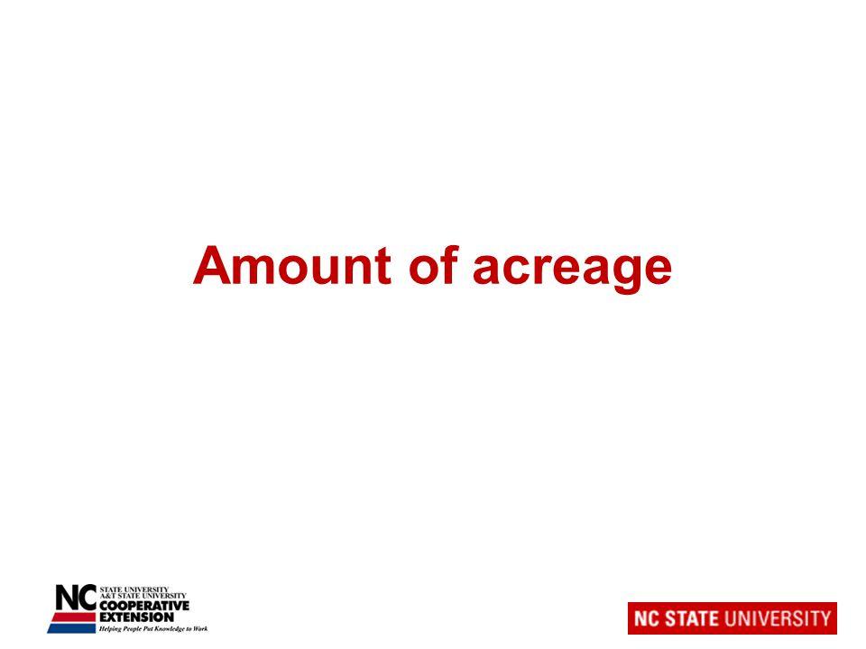 Amount of acreage