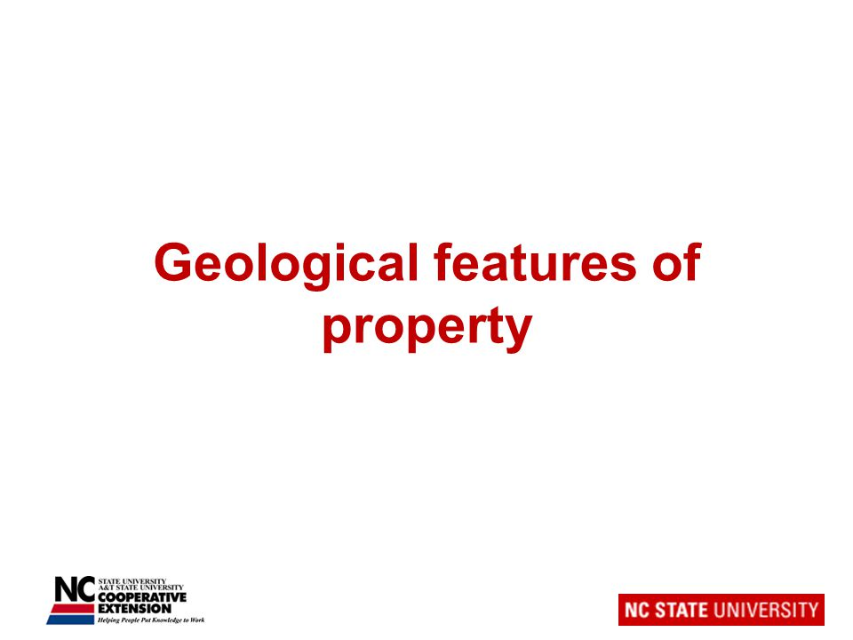 Geological features of property