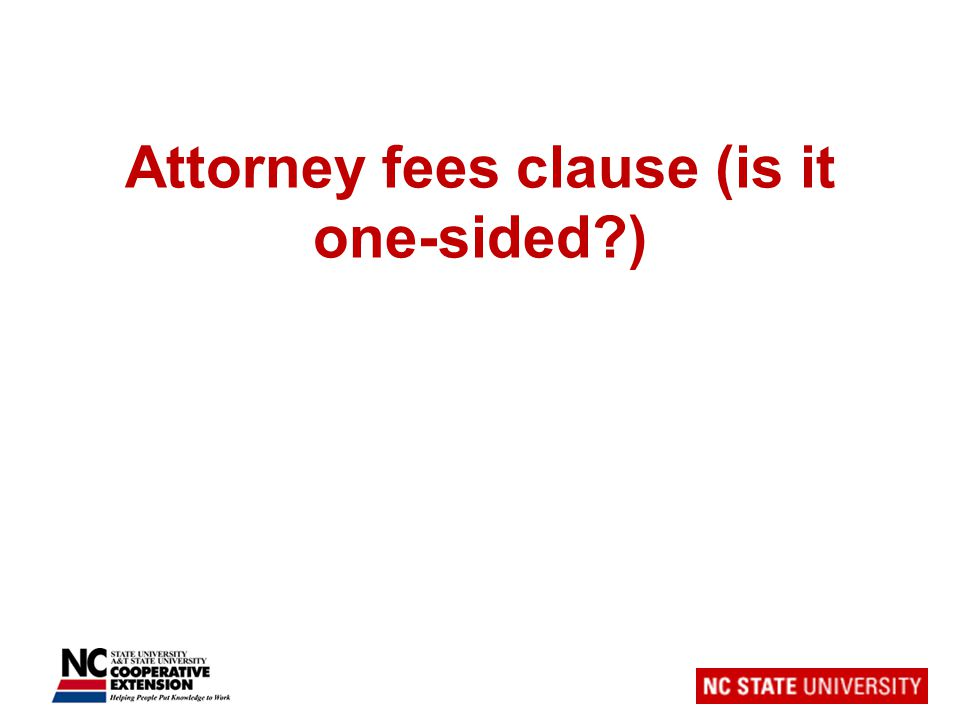 Attorney fees clause (is it one-sided )