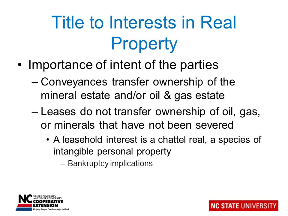 Does the landowner own the resource to be leased? What is to be leased?