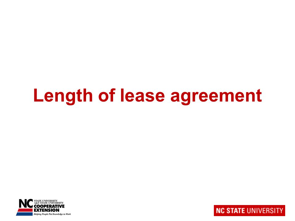 Length of lease agreement