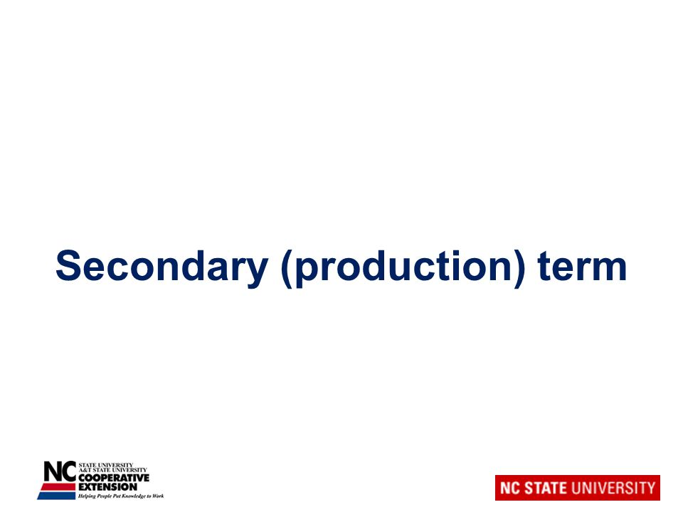 Secondary (production) term