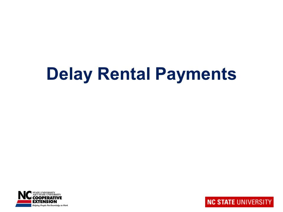 Delay Rental Payments