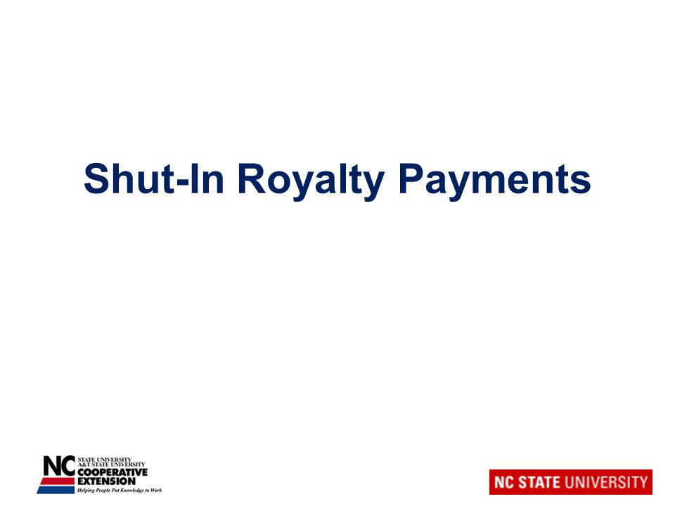 Shut-In Royalty Payments