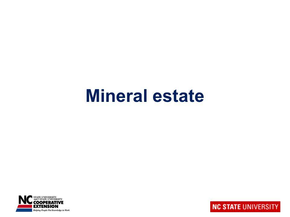 Mineral estate