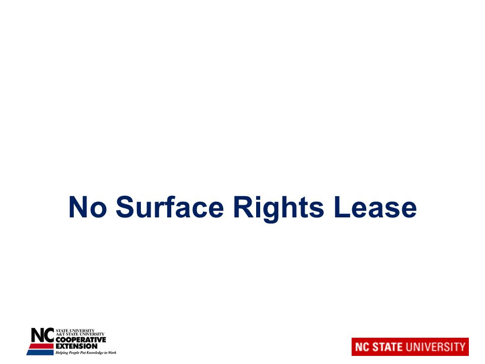 No Surface Rights Lease