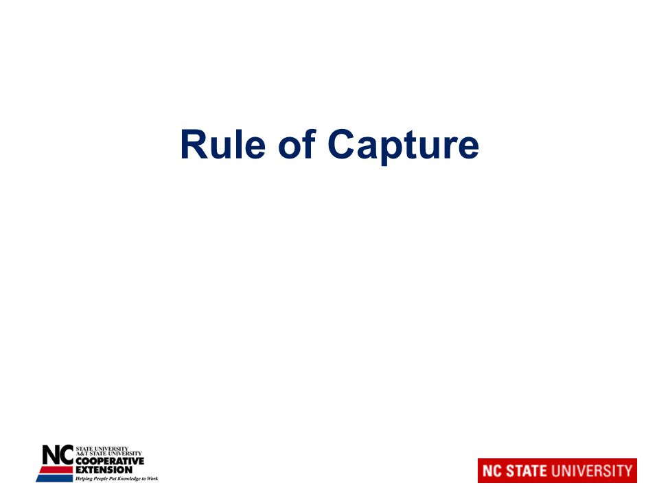 Rule of Capture