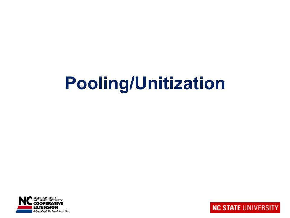 Pooling/Unitization