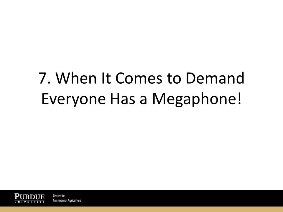7. When It Comes to Demand Everyone Has a Megaphone!