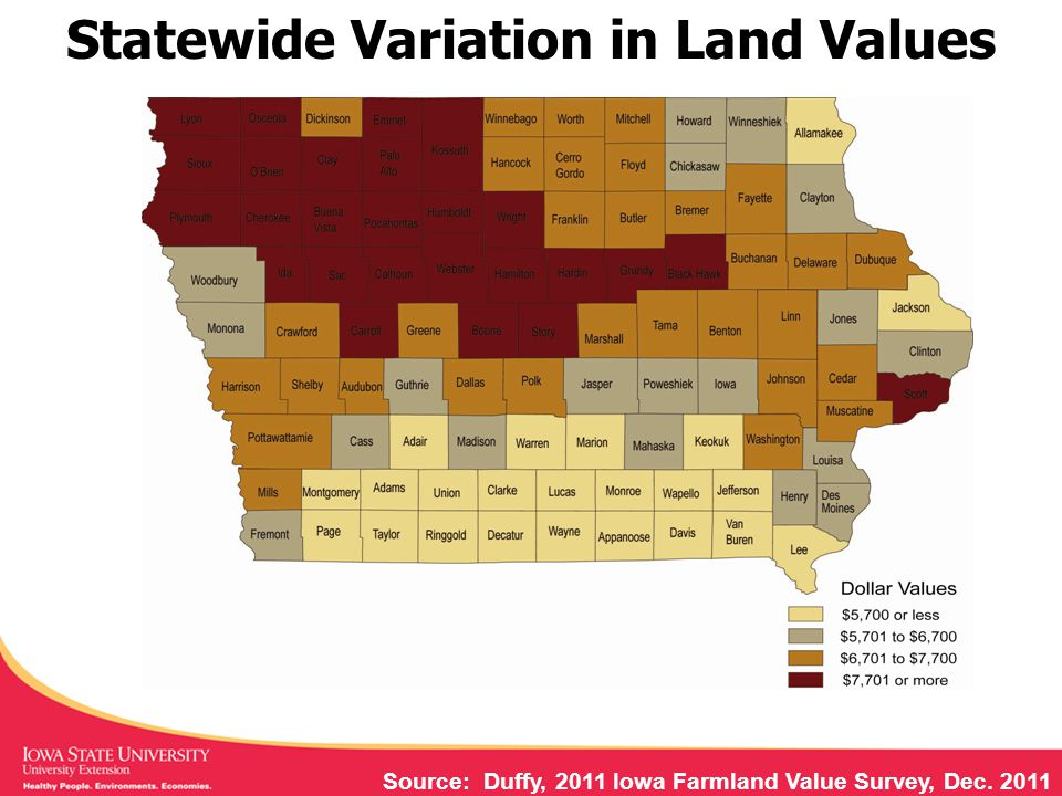 Source: Iowa Department of Ag, DNR, 2006