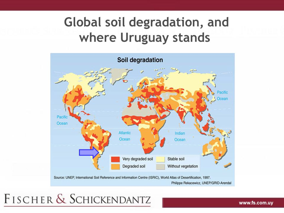 www.fs.com.uy Global soil degradation, and where Uruguay stands