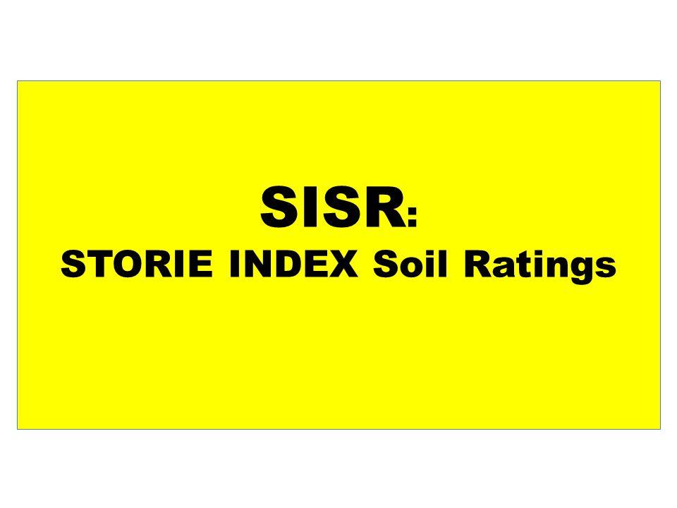 SISR : STORIE INDEX Soil Ratings