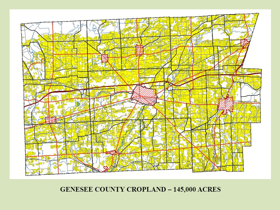 GENESEE COUNTY CROPLAND – 145,000 ACRES