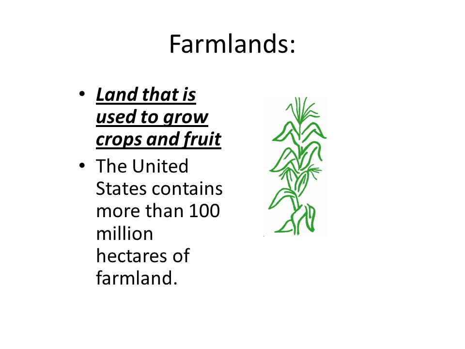 What are some threats to our farmland.