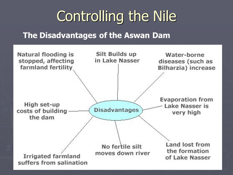 The Disadvantages of the Aswan Dam Controlling the Nile