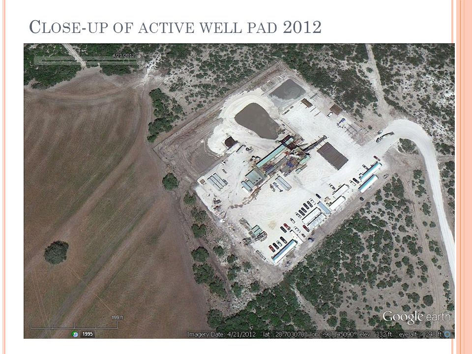 C LOSE - UP OF ACTIVE WELL PAD 2012