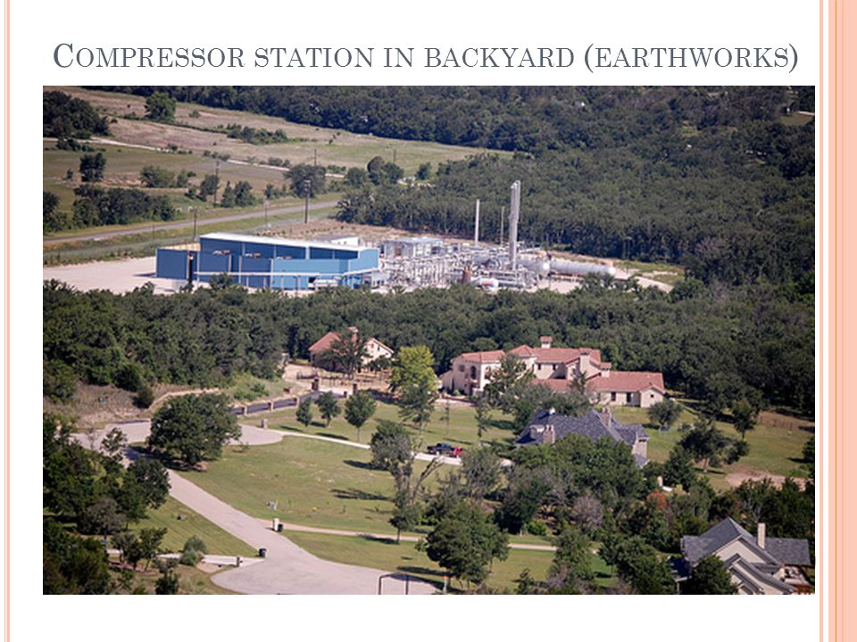C OMPRESSOR STATION IN BACKYARD ( EARTHWORKS )